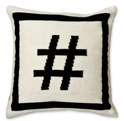 Hashtag Letter Pillow Pillow Jonathan Adler