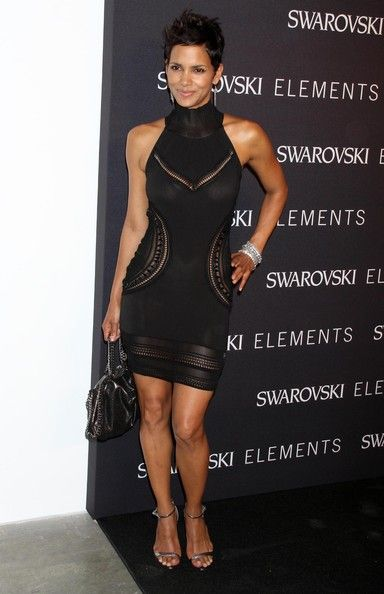 4c78ae6216 Halle Berry Cocktail Dress Halle Berry showed off her stunning curves in a  cut out LBD while hitting a New York City event. Brand  Roberto Cavalli