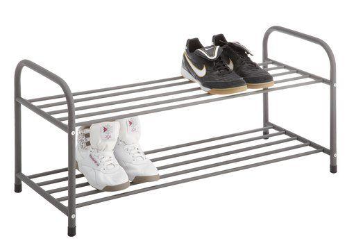 Regal Na Buty Haldum 2 Polki Szary Jysk Shoe Storage Shoe Cabinet Shoe Rack