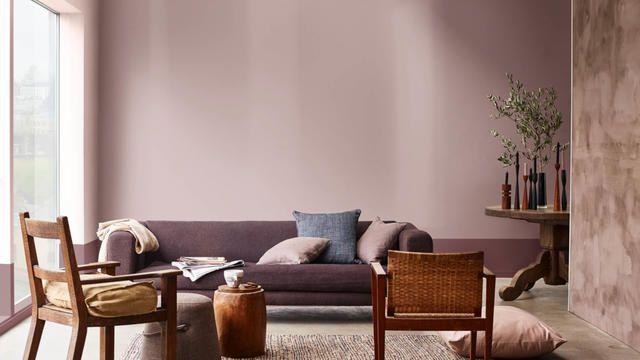 Ideeën voor een neutrale woonkamer. Trendkleur 2018: Heart Wood ...