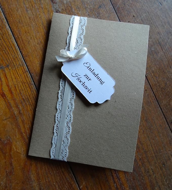 Besondere Einladungen/Karten Hochzeit, Menükarten, Tischkarten,  Kirchenhefte, Gastgeschenke, Dankeskarten, Vintage Spitze, Kraft
