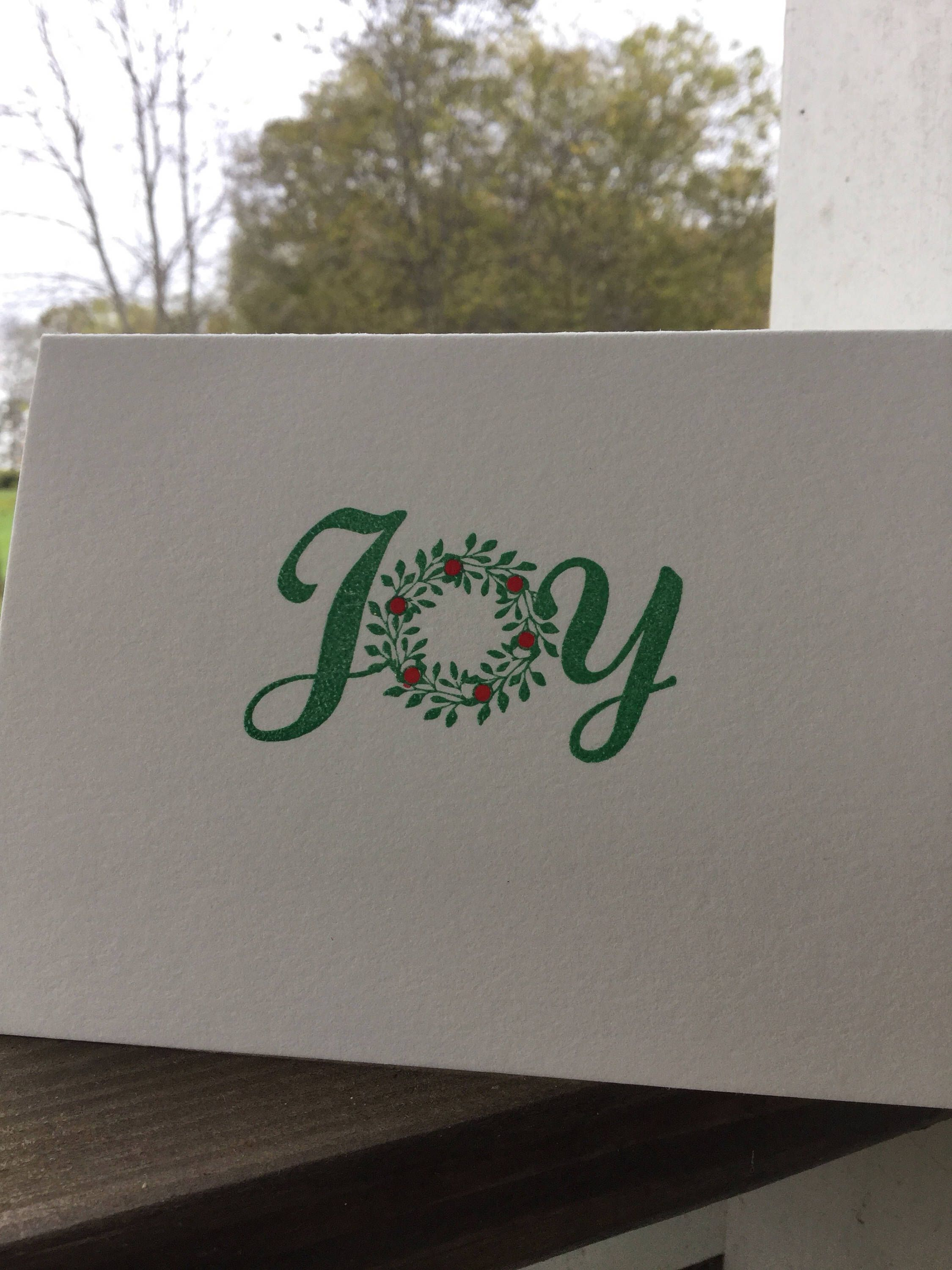 Box of 5 Christmas Joy, Hand Embossed Christmas Notes, Crane Paper ...