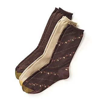 GOLD TOE® Floral Fashions Socks 3-Pack
