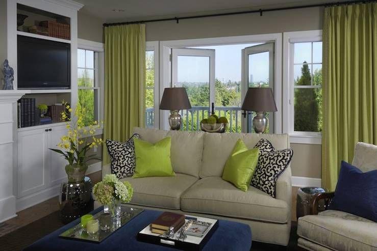 navy ivory green gold color scheme for bedroom | Dining ...