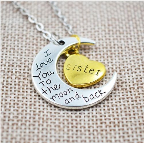 To The Moon and Back Family Necklace
