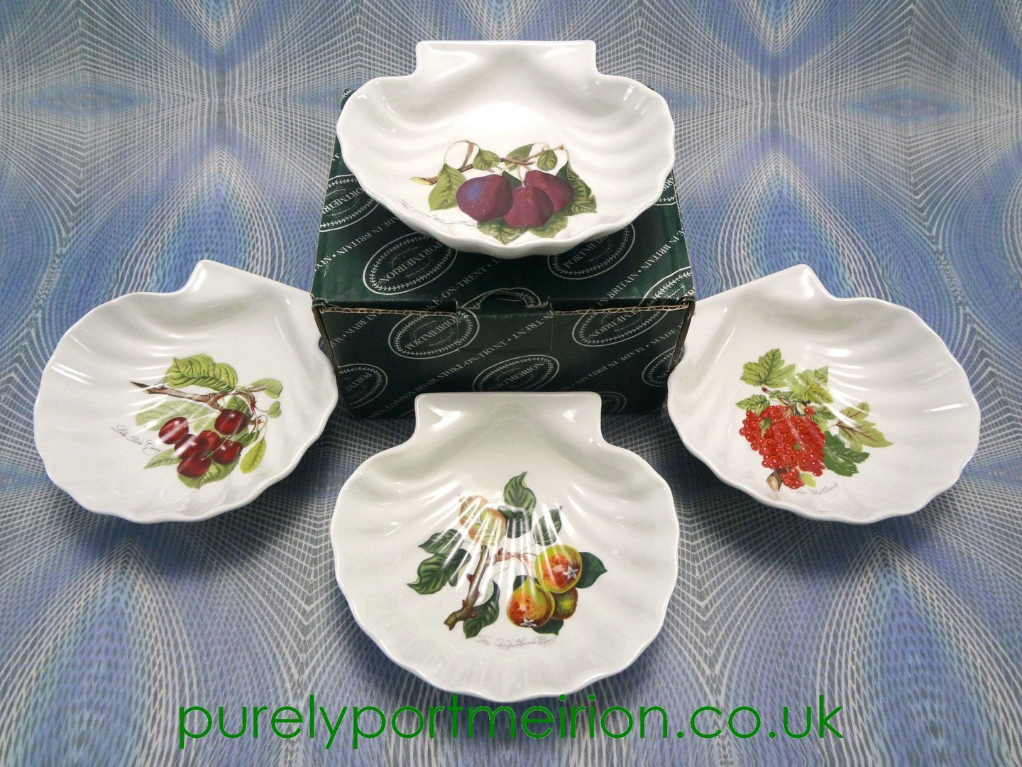 Portmeirion Pomona Vintage Set Of 4 Shell Shaped Dishes Boxed & Portmeirion Pomona Vintage Set Of 4 Shell Shaped Dishes Boxed ...