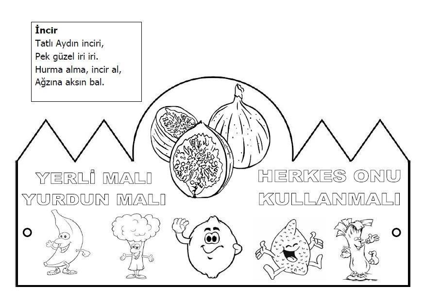 Yerli Mali Tac Boyama Sayfalari Faaliyetler Okul