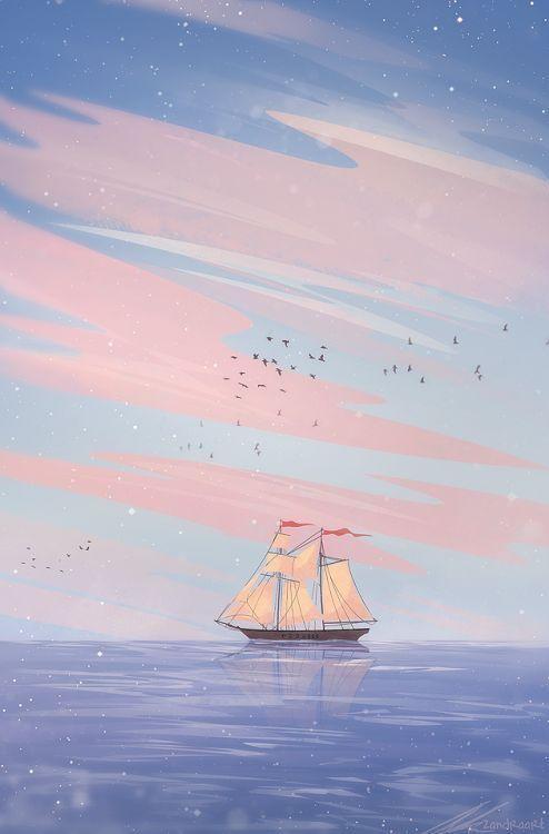 "zandraart: ""smooth sailing "" uploaded by tomatoro"