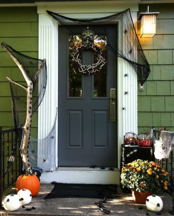 décoration d\u0027Halloween pour la porte d\u0027entrée! Halloween - halloween entree ideas