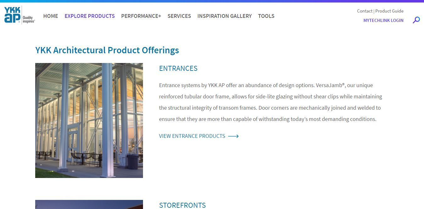 Architectural Product Offerings I Commercial I Ykk Ap Fenestration Systems