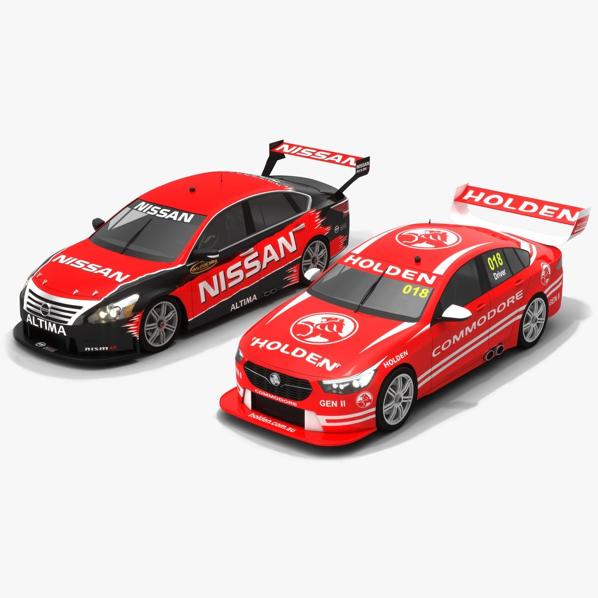 Our 2 V8supercars Championship Of The Season 2018 Beauties Holdenzbcommodore And Nissan Altima L33 Lowpoly Pbr Racecar 3dmodel Opticaldreamsoft