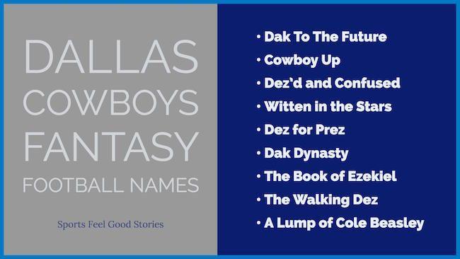 Dallas Cowboys Fantasy Football Names Fantasy Football