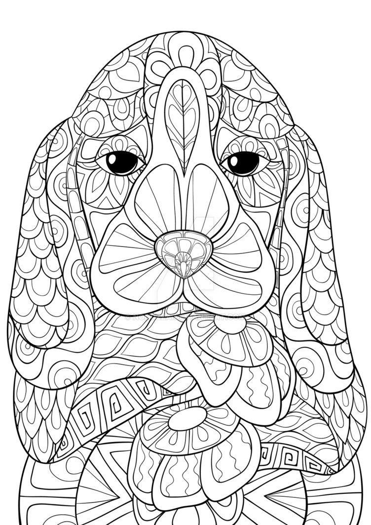 Pin Van Coloring Pages For Adults Op Coloring Dog Kleurboek Volwassen Kleurboeken Speurneus