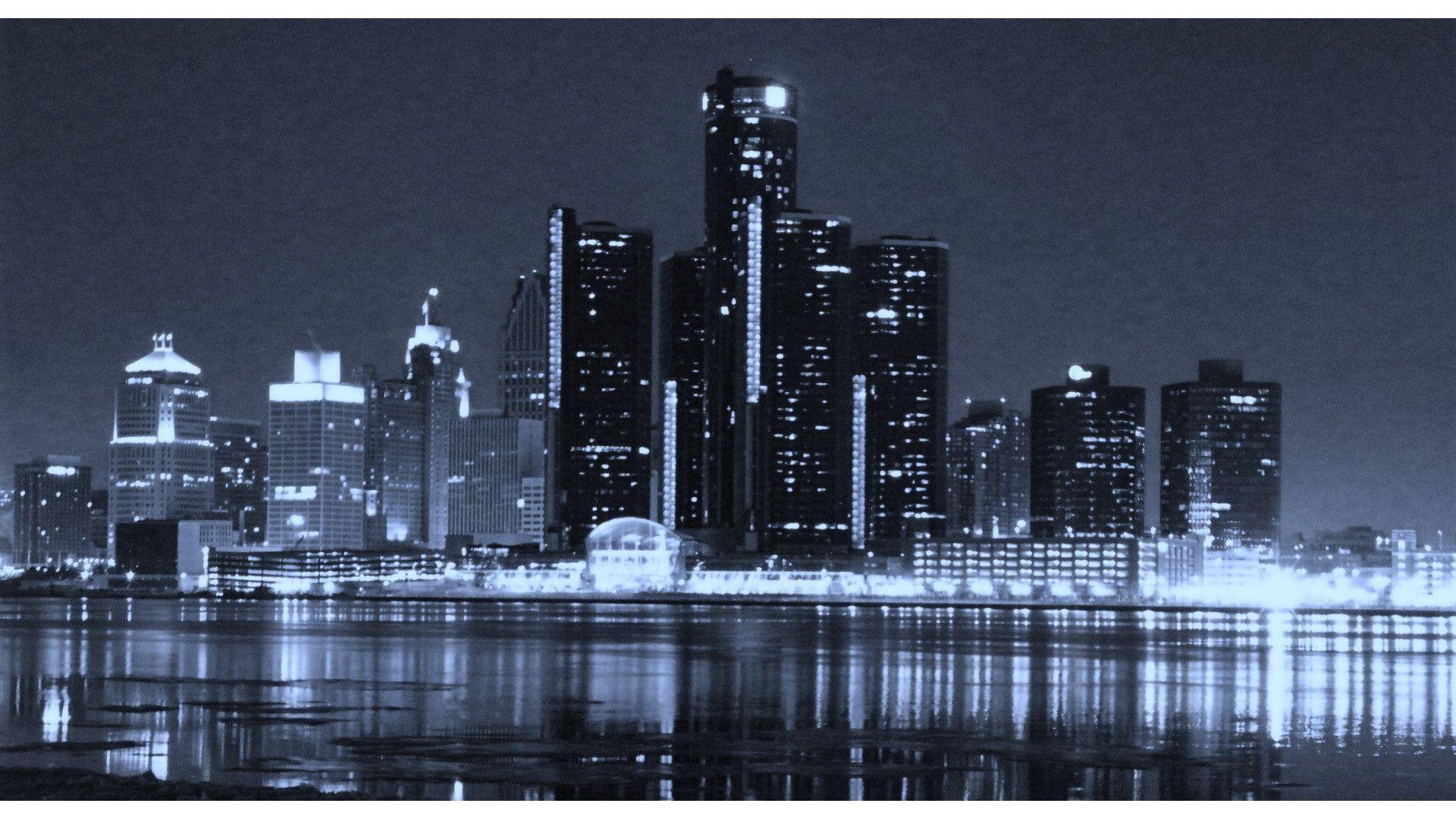 Detroit City Skyline Desktop Wallpaper Boston Skyline Atlanta Skyline Detroit Skyline