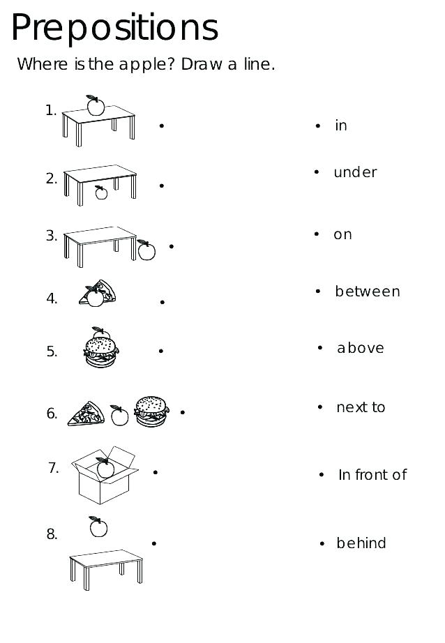 Preposition Worksheet Simple (With images) Learning