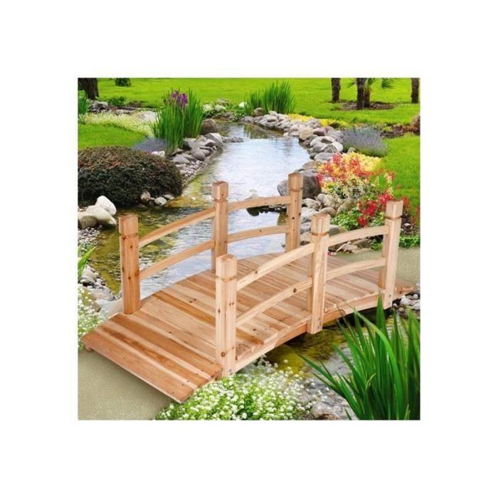 PONT Pont de jardin bois passerelle arrondi housse meuble jardin ...