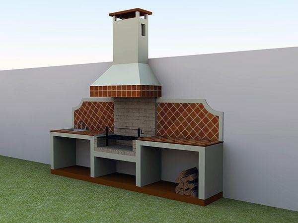 Asadores coloniales tepic hornos colonial asador y for Fogones rusticos en ladrillo