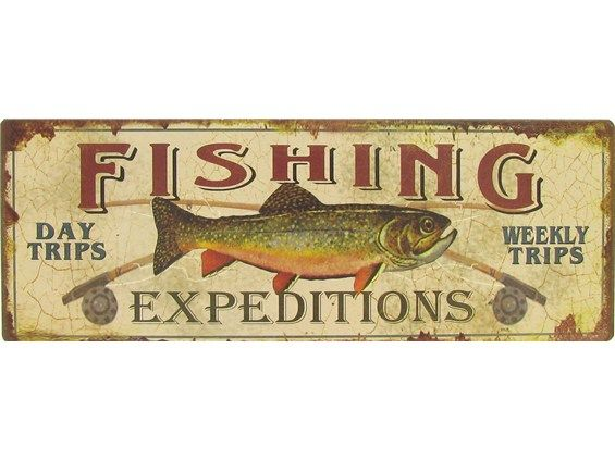 Man Cave Signs At Hobby Lobby : Fishing expeditions tin sign only what a cheap way to