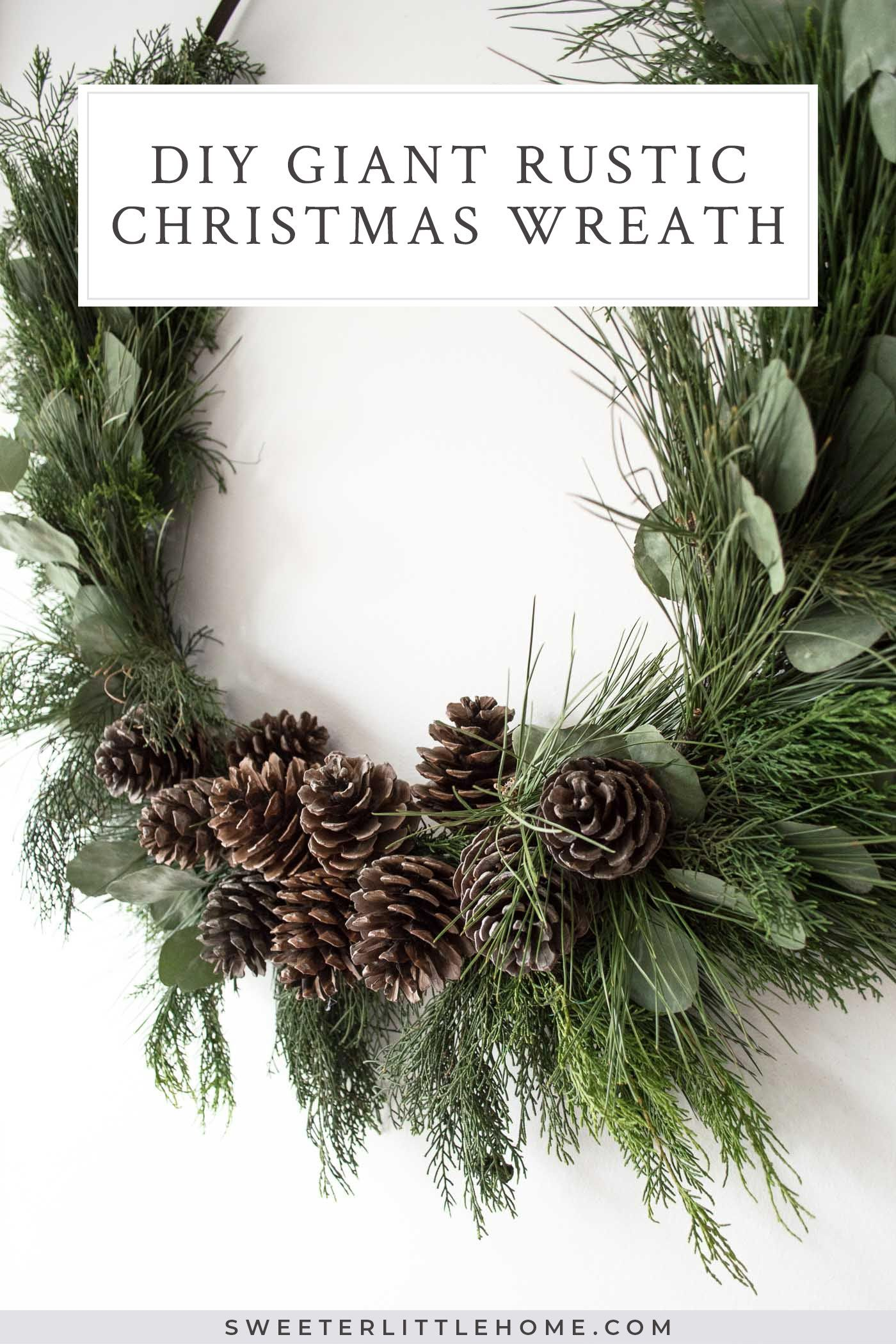 How to make a giant DIY Christmas wreath