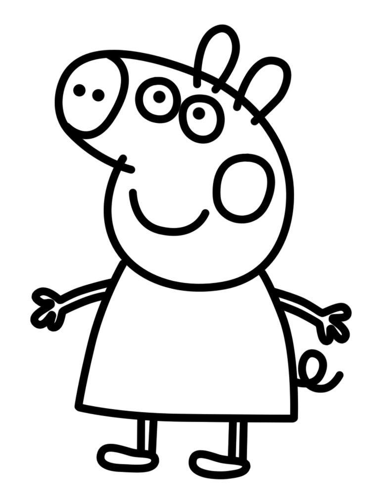 Dibujos Para Colorear Peppa Pig Para Niños Gato Dibujos