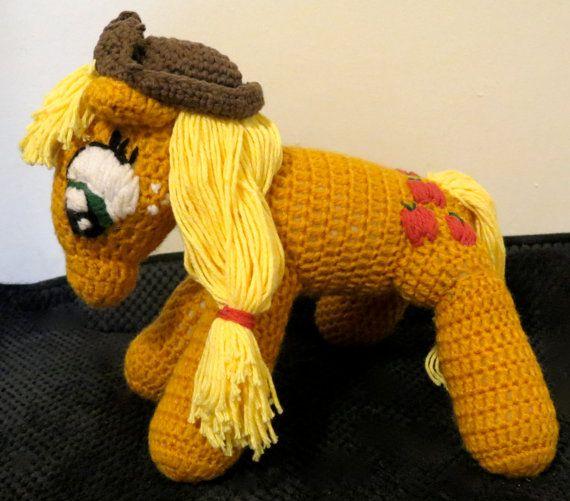 Applejack and fluttershy crochet mlp by lizwcrochet on Etsy, $34.99