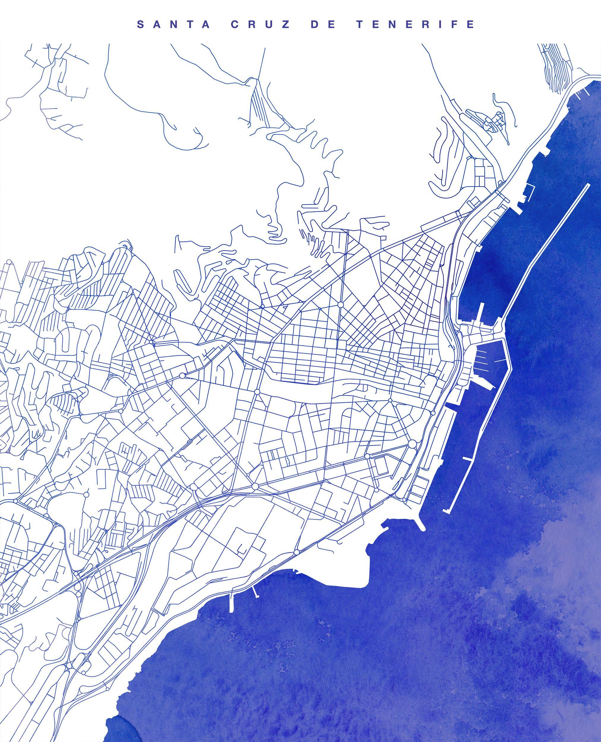 Mapa De Santa Cruz De Tenerife Canary Islands Islas Canarias Tenerife Islas