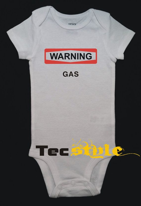 Warning Gas Onesie Boy or Girl Body Suit One Piece by TecStyle