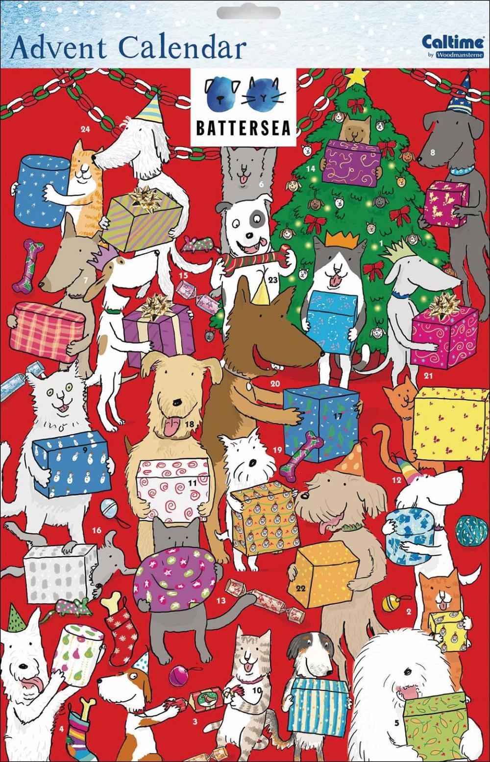 Battersea Dogs & Cats Presents A3 Advent Cat presents