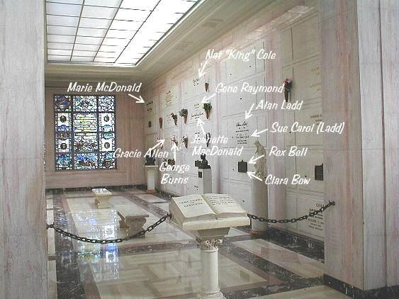 Inside one room of the Freedom Mausoleum at Forest LawnGlendale