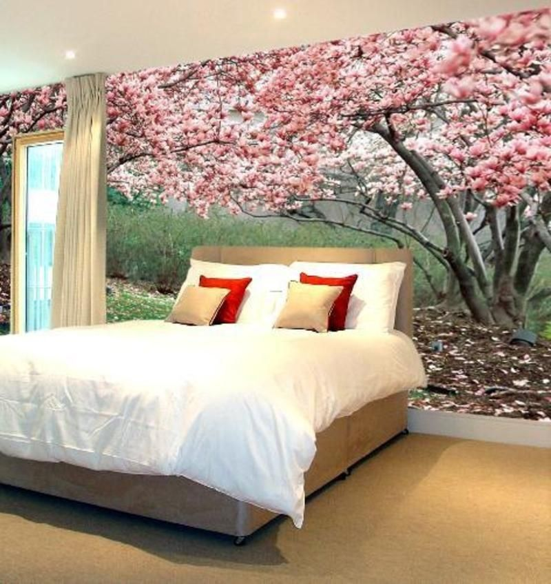 bedroom-interior-designer-wall-mural-sakura-wall-bedroom-interior
