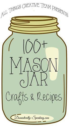 Mason Jar Crafts and Recipes #craftprojects