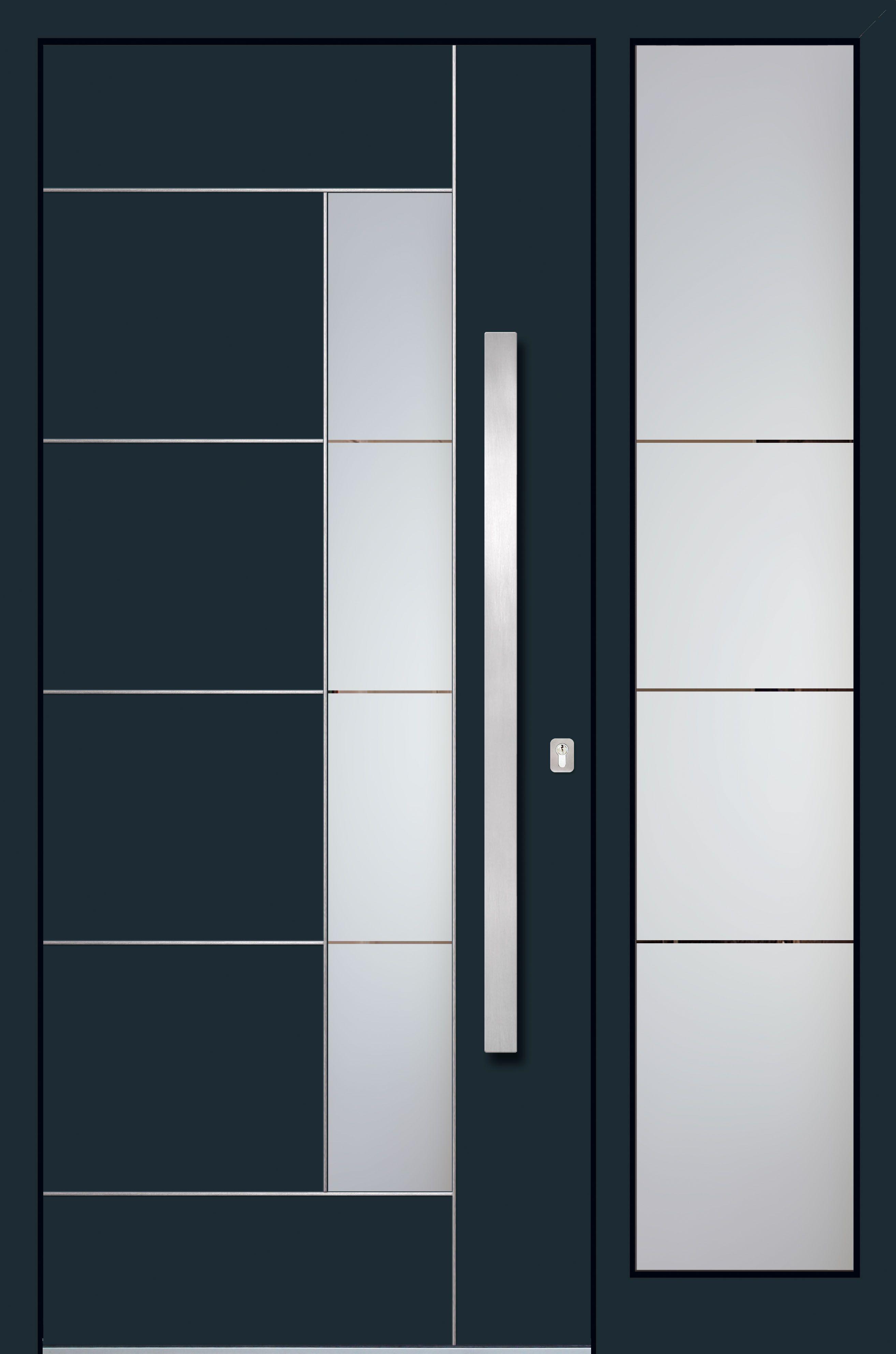 Alu Haustüren Schüco mit Seitenteil   Haustüren Aluminium Modern ...