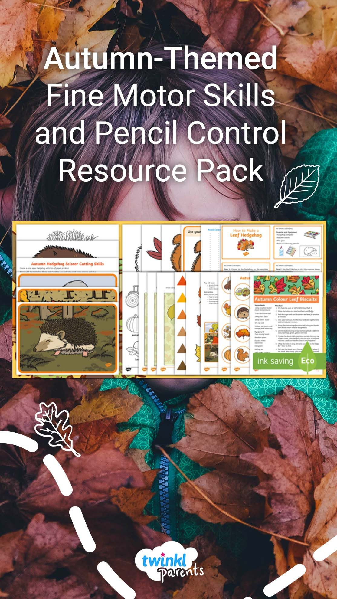 Autumn Themed Fine Motor Skills And Pencil Control