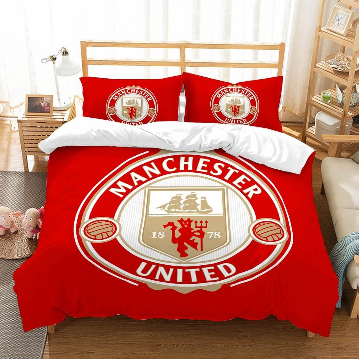 3D Customize Manchester United F.C. Bedding Set Duvet