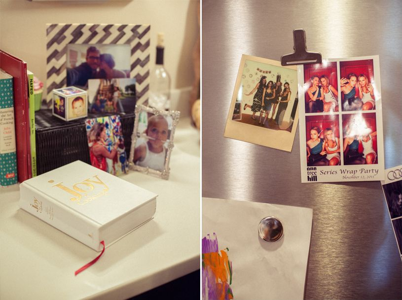 Bethany Joy Lenz's fridge, with OTH series wrap party pictures!, Zooey Magazine