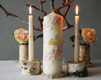 Wedding Candles & Holders – Etsy
