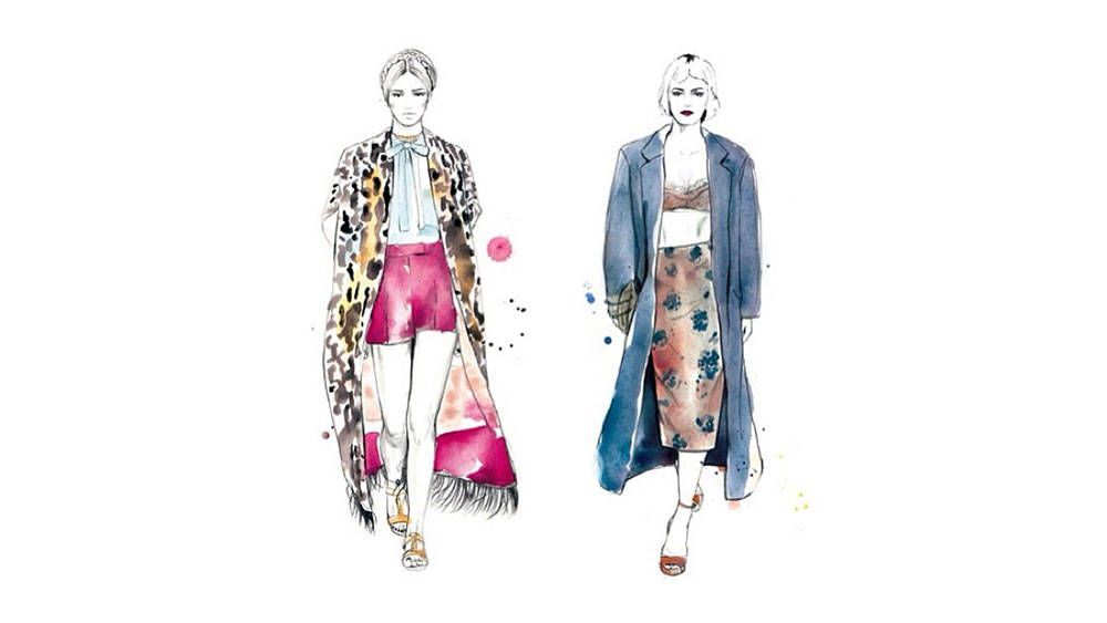 @sarahhankinson Follow for: Illustrations of everything stylish including runway looks, lacy bralettes and the It-bag of the season. Courtesy Instagram  - HarpersBAZAAR.com