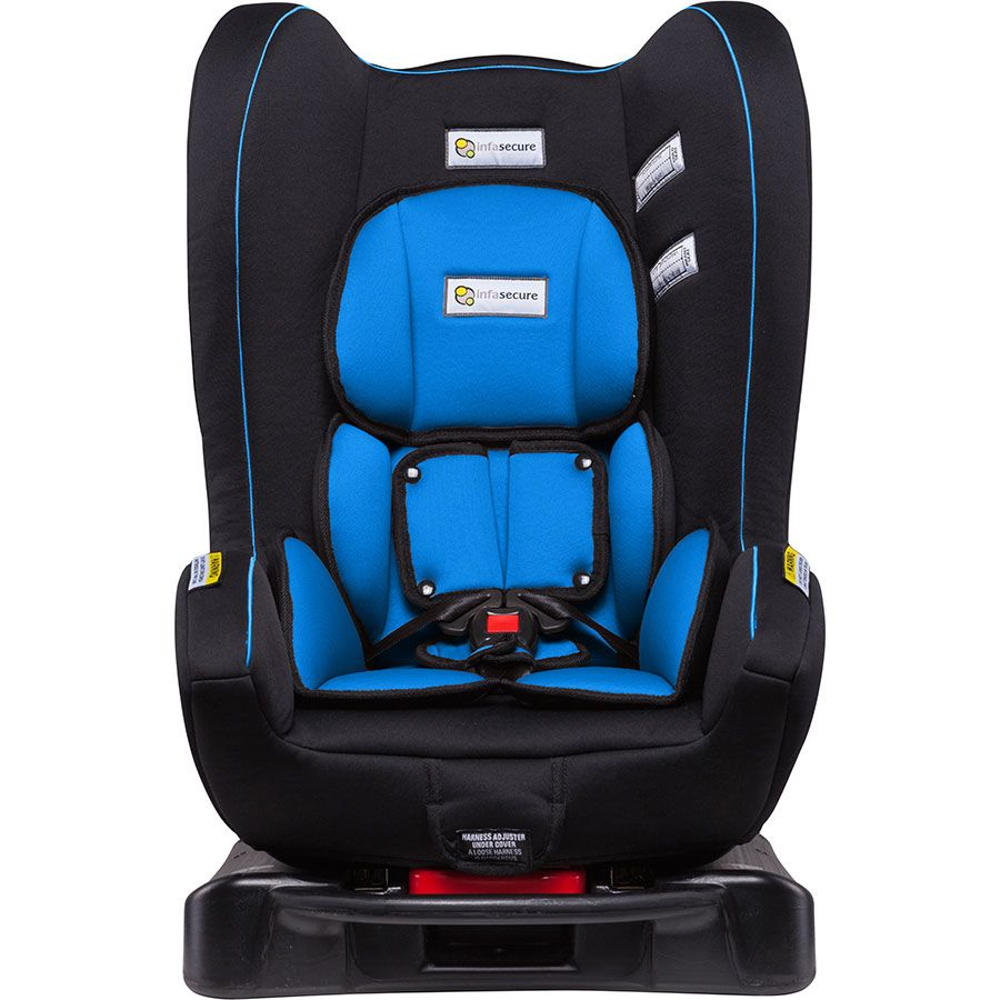 infa secure ascent multirecline car seat  blue  hit the road  - convertible car seats by infasecure