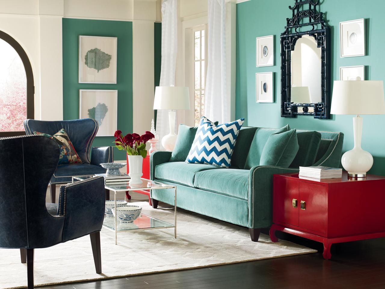 Turquoise Living Room With Red End Table Living Room Turquoise Living Room Red Living Room Green #turquoise #and #red #living #room