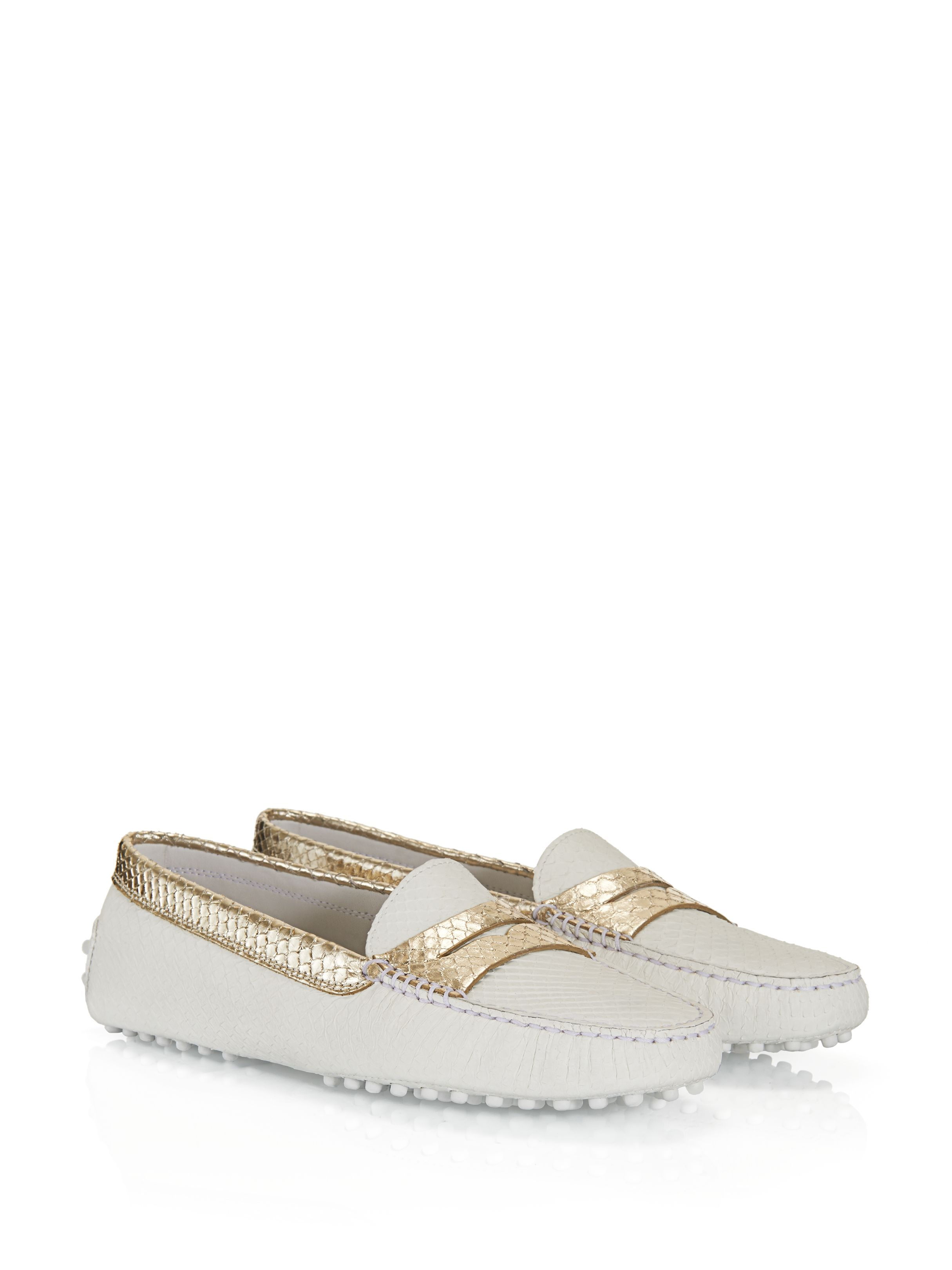 Steve Madden Women's platform laceless sneakers in gray faux leather with fur Tod's - Gommino Mocassino In Pitone - XXW00G000105LI1556 - Tod's Gommino penny loafers crafted in exquisite python leather, with gold-trimmed penny bar and side panels, embellished with hand-made exposed stitching and iconic rubber pebble outsole. - Python leather upperGold-plated penny bar and trimsHand-made exposed stitchingIconic gommino rubber pebble outsoleGommino rubber pebble detailing on the heelVery fine precious leather. Thin and delicate materials which may tear if