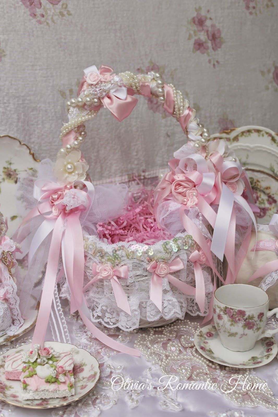 Pink Shabby Chic Dresser: Olivia's Romantic Home: Glam Easter Baskets