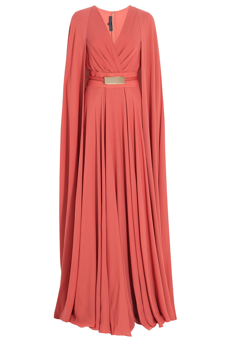 Womenus red long cap detail gown track the oujays and red