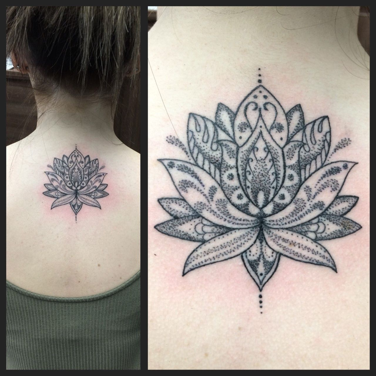 Dot Work Lotus Flower By Joanne Devilsowntattoos Devilsown