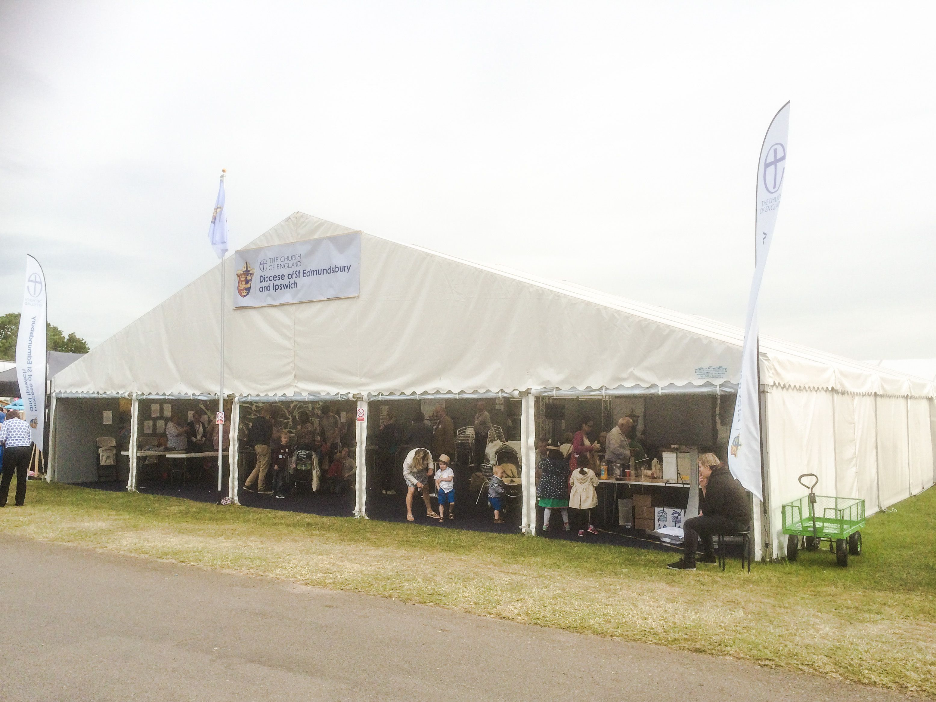 15m x 18m Frame Marquee Hire for the Suffolk Show complete with ...