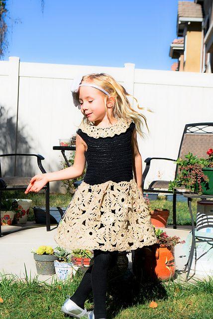 Ravelry: Granny Square Crochet Dress for Girls pattern by Monika Bartocha free