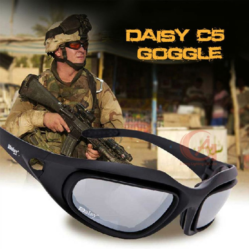 fe916014b680 Daisy C5 Army Goggles Military Sunglasses 4 Lens Kit War Game Tactical  Glasses  DaisyC5China  Goggle