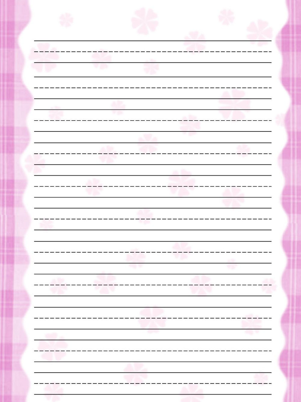 lined notebook paper template pink free   paper templates