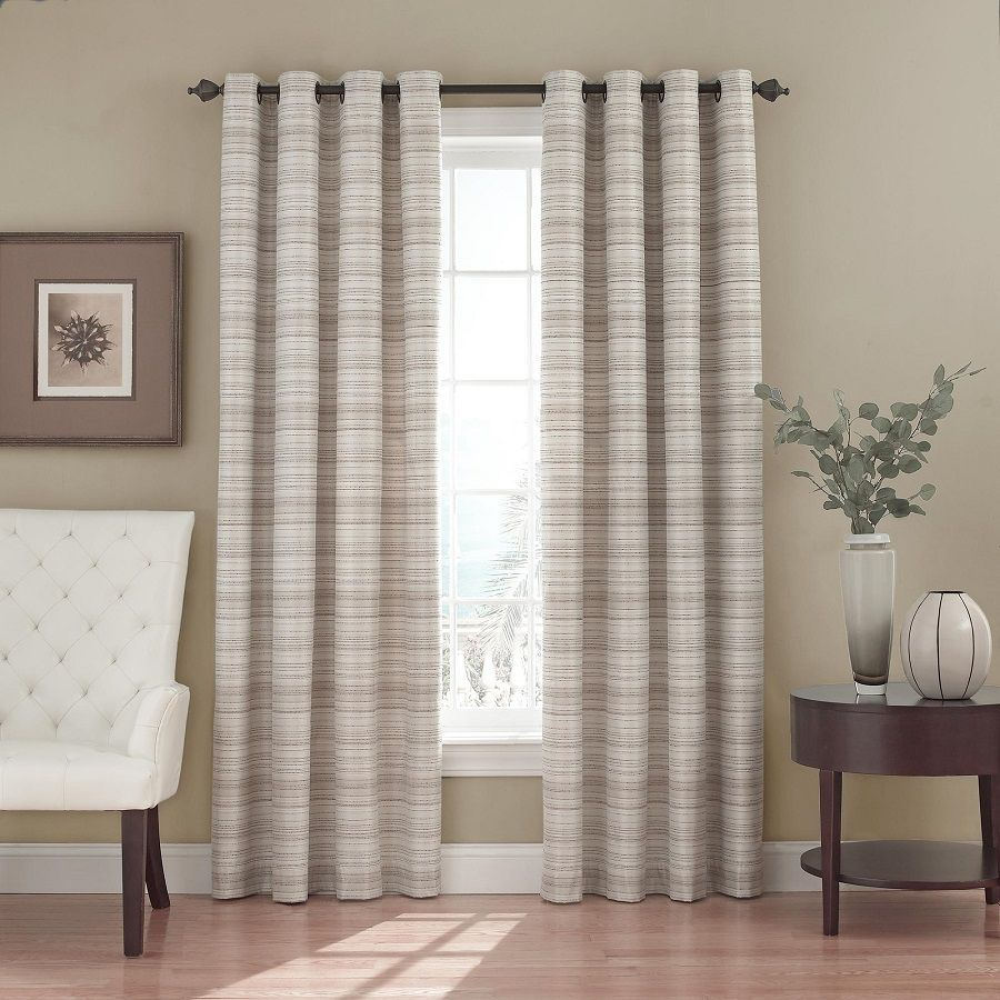 Eclipse bellagio blackout window curtains in natural home design