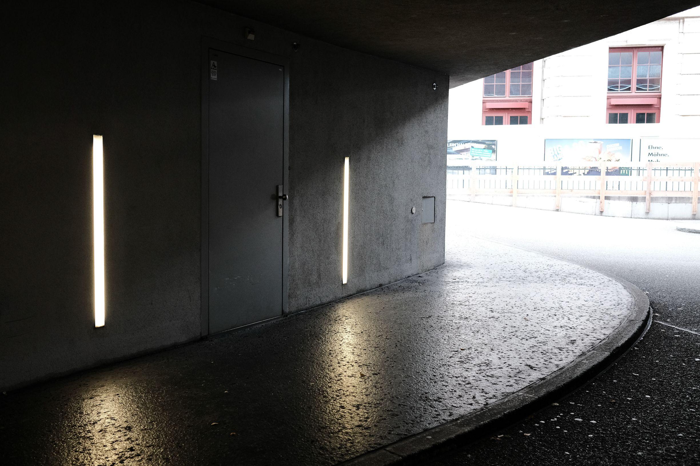 Beleuchtung Tiefgarageneinfahrt Garage Einfahrt Einfahrt Garage