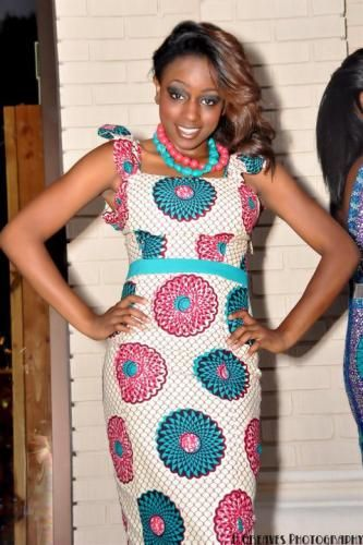 Dress with matching beads